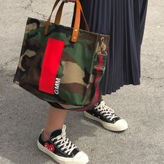 Pleats, and our Mimi in Camo! Rare Clothing, Camo Designs, Linen Bag, Patchwork Bags, Fabric Bags, Printed Bags, Shopper, Cotton Bag, Preppy Style