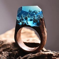 ring made out of wood & resin by Secret Wood!