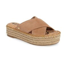 Women's Sam Edelman Natty Platform Espadrille (€83) ❤ liked on Polyvore featuring shoes, sandals, golden caramel suede, sam edelman espadrilles, espadrille sandals, platform espadrilles, sam edelman and platform shoes