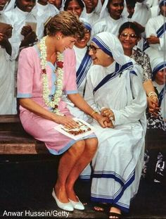 Mother Theresa and Princess Diana.#anniversary