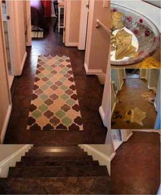 DIY Paper Bag Floors — Beautiful and Super Cheap..........http://diyfunideas.com==========BEST DIY SITE EVER!
