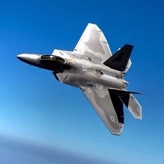 Global Military Aviation-A U.S. Air Force F-22 Raptor in flight during a training sortie near Langley Air Force Base, Virginia.