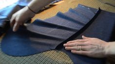"""Basting the Sleeves""    Have previously machined the forearm seams, Rory Duffy's next step in making up the sleeve bastes is to press those seams open, and in…"