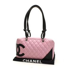 CHANEL Bowling bag Cambon Shoulder bags Pink Leather A25171