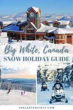 Check out our simple yet effective snow holiday guide to Big White Snow Resort in beautiful Kelowna Canada. Big White is the only place we've felt completely relaxed during the entire stay of a snow holiday and it has 'family friendly' written all over it. Click through to see. #snow #snowholiday #bigwhite #canada #snowtrip Backpacking Canada, Canada Travel, Winter Travel, Summer Travel, New England Day Trips, Canada Snow, Snow Resorts, Canada National Parks, Snow Holidays