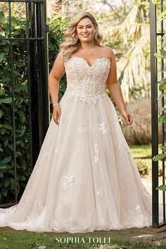 Sophia Tolli Wedding Dresses 2019 for Mon Cheri - Bridal Gowns Wedding Dresses Plus Size, Plus Size Wedding, Best Wedding Dresses, Trendy Wedding, Bridal Dresses, Wedding Gowns, Wedding Ideas, Sofia Tolli Wedding Dress, Wedding Trends