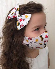 Easy Face Masks, Face Masks For Kids, Diy Face Mask, Mouth Mask Fashion, Fashion Face Mask, Diy Hair Scrunchies, Hair Bows, Diy Masque, Nose Mask