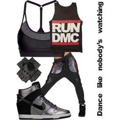 Hip hop dancer outfit by fae-child on Polyvore featuring H&M and NIKE