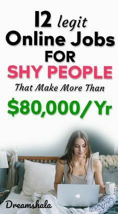 12 legit online jobs for shy people that make more. - 12 legit o Ways To Earn Money, Earn Money From Home, Earn Money Online, Way To Make Money, Online Earning, Money Today, Making Money From Home, Earn Money Fast, Hobbies That Make Money