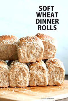 Soft Whole Wheat Dinner Rolls - Vegan RichaBloglovinFacebookGoogle+InstagramPinterestRSSTwitterYouTube