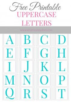 Free printable alphabet letters a to z spiritdancerdesigns Choice Image