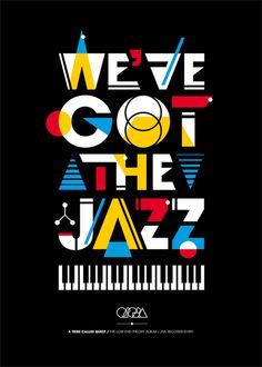 jazz Graphic Design Typography, Graphic Art, Graphic Posters, Hiphop Poster, Cute Poster, Jazz Poster, Typo Poster, Hip Hop Logo, Jazz Colors
