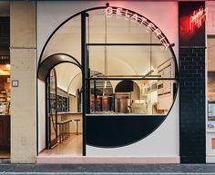Aspire To Inspire Before You Expire. Design Entrée, Kiosk Design, Facade Design, Retail Design, Door Design, Cafe Shop Design, Coffee Shop Interior Design, Shop Front Design, Commercial Interior Design