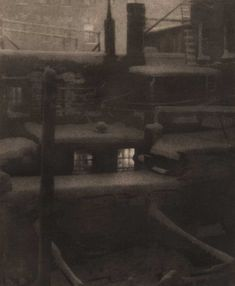 """love this!! Detail: """"Thru the Back Window"""": Charles A. Hellmuth: American: vintage 1924 Wellington bromoil print: 32.1 x 24.0 cm   50.7 x 40.6 cm: from: PhotoSeed Archive"""