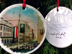 Jack Puhl Christmas Parade Day by jackpuhl on Etsy, $20.00 Christmas Bulbs, Fine Art, My Love, Holiday Decor, Handmade Gifts, Etsy, Products, Kid Craft Gifts, Christmas Light Bulbs