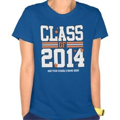 Royal Blue/Orange Class Year T-shirts - Senior Class of 2014