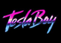 Tesla Boy - What an awesome album cover - and a great excuse to bust out an airbrush! You just don't see this kind of stuff anymore. Retro Font, Retro Logos, Vaporwave, 80s Design, Logo Design, Kilian Eng, Boy Fonts, 80s Logo, Las Vegas