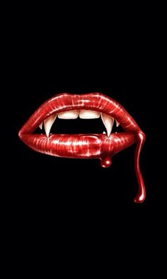 WICKED FANG LIPS IPHONE WALLPAPER BACKGROUND