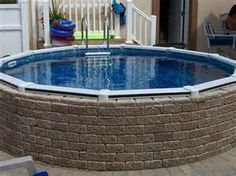 1000 images about pools above ground pools on pinterest for Above ground pool base ideas