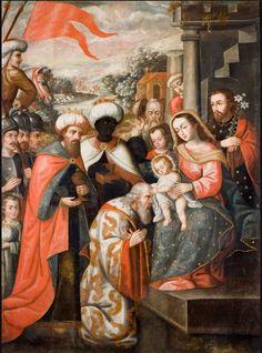 Nacimento, pintura barroca del Perú.