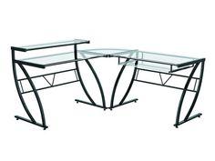 """Belaire Glass """"L"""" Desk"""
