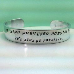 It's always possible - Custom Bracelet Metal Stamped