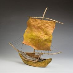 one of a kind, sailing vessel by Raphaela McCormack #boat #sculpture $1,200