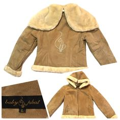 BABY PHAT SUEDE Zip Jacket, Fur Lined Convertible Hoodie/ Camel LRG (Reg: $300)  | eBay