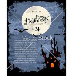 Halloween background vector on VectorStock
