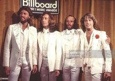 Bee Gees Photo for Media and Publishing Licensing from Photofeatures and Chris Walter. Photo of Bee Gees 1977 Barry Gibb, Robin Gibb, Maurice Gibb and Andy Gibb ay Billboard Music Awards Andy Gibb, Robin Gibb, Susan George, Billboard Hot 100, Billboard Music Awards, 2017 Billboard, Keith Richards, Recital, Paul Mccartney