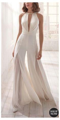 Elegant Dresses, Pretty Dresses, Beautiful Dresses, Mode Kimono, Wedding Jumpsuit, Casual Jumpsuit, Backless Jumpsuit, Jumpsuit Hijab, Summer Jumpsuit