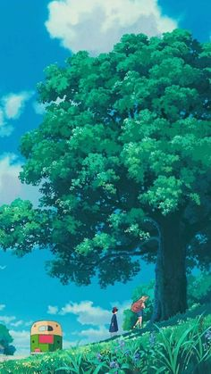 Art Studio Ghibli, Studio Ghibli Movies, Aesthetic Backgrounds, Aesthetic Wallpapers, Studio Ghibli Background, Anime Scenery Wallpaper, Hayao Miyazaki, Animes Wallpapers, Landscape Art