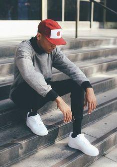 Cómo combinar una gorra de béisbol roja en 2016 (13 formas) | Moda para Hombres