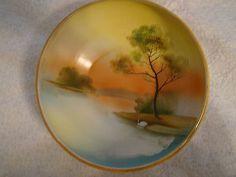 Vintage Noritake Handpainted Landscape Bowls, Plates, Noritake Japan