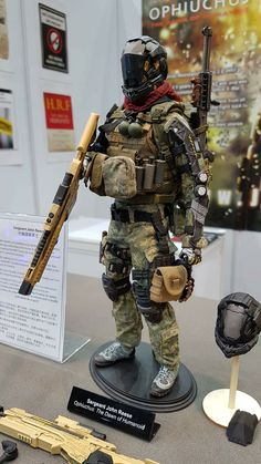 """toyhaven: Check out Jackal X scale """"Ophiuchus: Dawn of Humanoid"""" Sergeant John Reese and Corporal Joel Hagan collectible figures Cyberpunk, Airsoft, Character Concept, Character Art, Gi Joe, Combat Armor, Military Action Figures, Futuristic Armour, Carapace"""