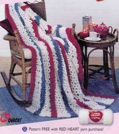3-Color Afghan LW1278 | Purple Kitty