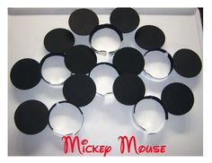 Party Pack of 6 Mickey Mouse Ears Party Headbands. $10.00, via Etsy.