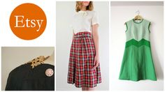 How to Score Good Vintage on Etsy Vintage Inspired, High Waisted Skirt, Vintage Outfits, Handmade Items, Skirts, Stuff To Buy, Etsy, Life, Inspiration