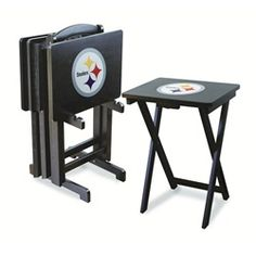 Pittsburgh Steelers TV Trays Set of 4 Portable Snack Trays