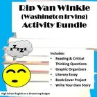 """Set of activities for use with the story """"Rip Van Winkle"""" by Washington Irving. Includes graphic organizers, book cover project, literary essay, write your own Rip Van winkle project, reading & critical thinking questions and more! Rubrics and answer keys provided."""