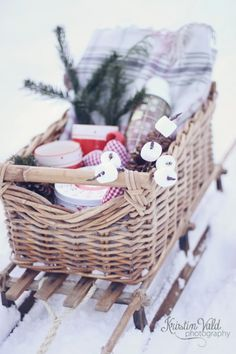Winter Picnic packed into the sweetest little sleigh.