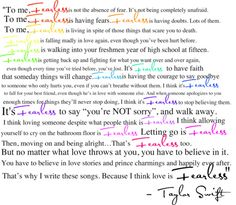 Fearless... Fearless is having the courage to say goodbye to someone who only hurts you, even if you can't breathe without them.... ~Taylor Swift