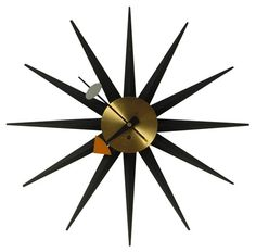 1964 Original George Nelson Sunburst clock #2202 Signed
