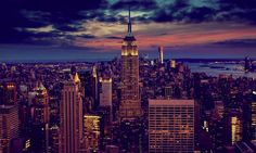 new york empire state building at sunset