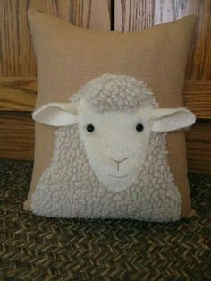 Looking at Ewe 2019 Sweet faced woolly sheep pillow.Looking at by Justplainfolk The post Sweet faced woolly sheep pillow.Looking at Ewe 2019 appeared first on Wool Diy. Sheep Crafts, Felt Crafts, Fabric Crafts, Sewing Crafts, Sewing Projects, Applique Cushions, Wool Applique, Diy Pillows, Decorative Pillows