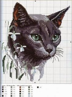 Cross Stitch Craze: Cats and Kittens - Free Patterns and Graphs