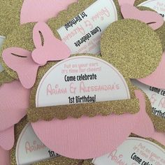 Minnie Mouse Decoration Ideas Inspirational Minnie Mouse Ideas for Birthday Invitation Mickey and Minnie Mouse Birthday Invitations, Minnie Mouse First Birthday, Minnie Mouse Theme, Minnie Mouse Baby Shower, 1st Birthday Girls, First Birthday Parties, First Birthdays, 50th Birthday, Birthday Ideas