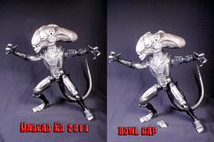 Alien Xenomorph Pipe Converted Action Figure Internal by Zoombiez