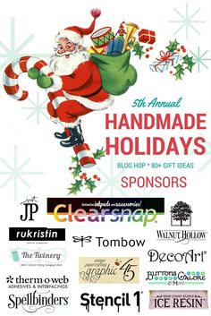 5th Annual Handmade Holidays Blog Hop! Hosted by Jennifer Priest and Clearsnap