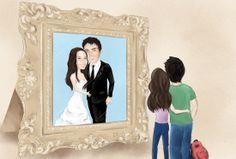 תום שריר - הזמנות מאויירות לחתונה